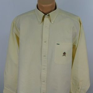 Tommy Hilfiger long sleeve button down shirt.  M